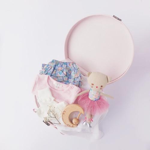 personalised baby girl hampers in keepsake suitcase Australia