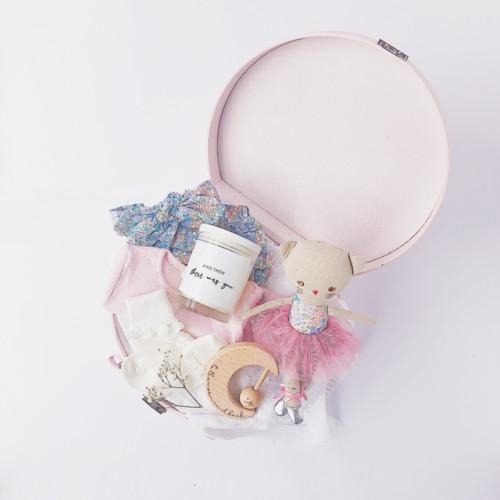 luxury baby gifts kitty ballerina doll in keepsake suitcase