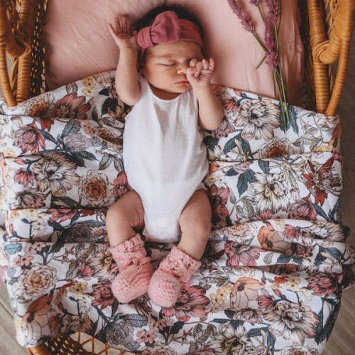 floral print muslin wrap for baby girl image by Friday's Child