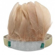 Blush Feather Headband